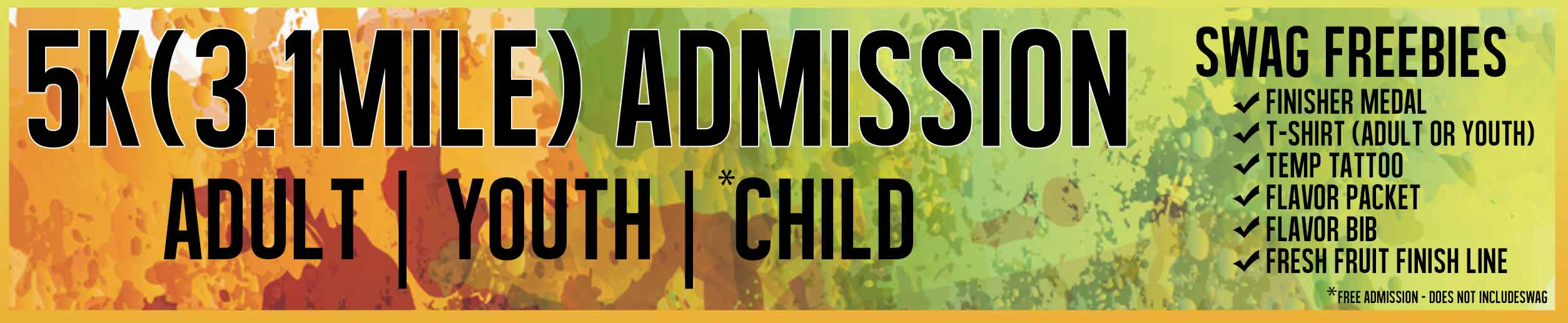 5k Admission Running Adult Child Youth Family Event Chattanooga